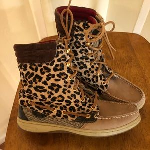 Sperry cheetah boots
